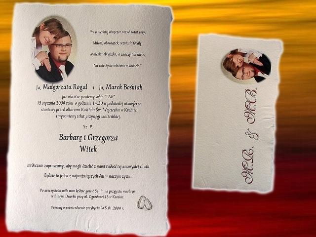 ślubne Zaproszenia Zaproszenia Strona 4 Z 6 Art Hand Studio