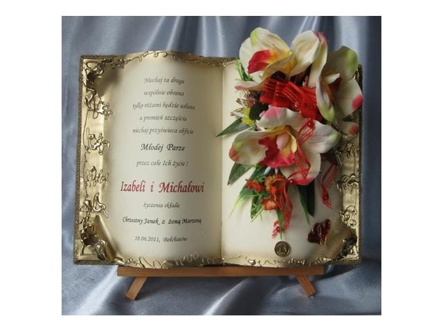 Od Matki Chrzestnej Ojca Chrzestnego Prezent Na ślub Pamiątka Dla