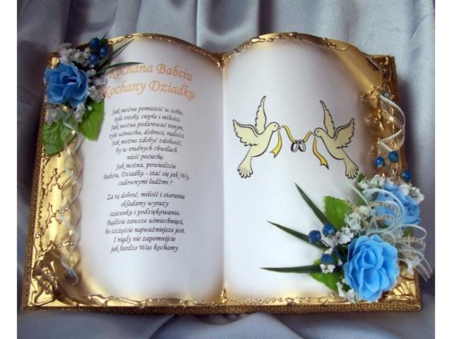 Babci I Dziadkowi ślubne Podziękowania Art Hand Studio Artystyczne
