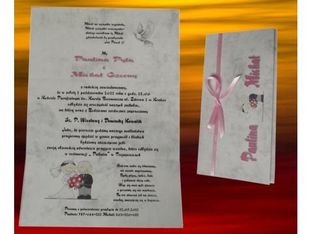 ślubne Zaproszenia Zaproszenia Art Hand Studio Artystyczne