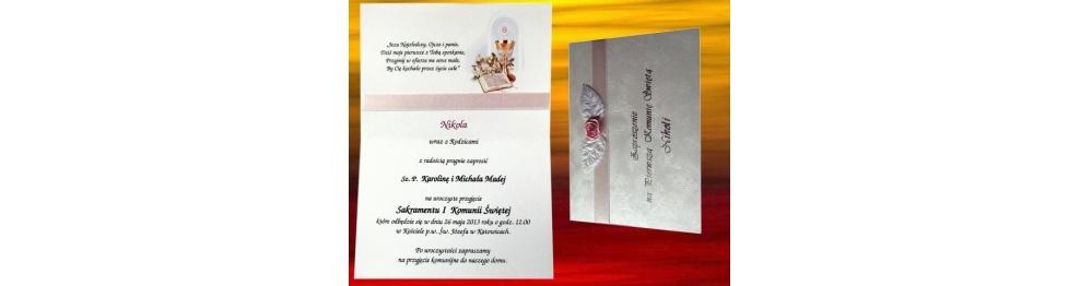 Komunia Zaproszenia