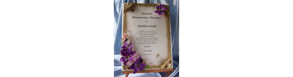Dyplom dla świadków